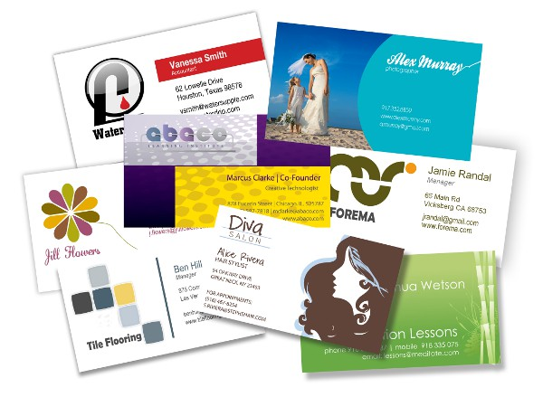 Custom glossy business cards hamilton on minuteman press canada design business cards postcards reheart Images